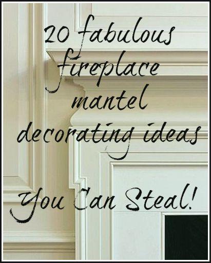 [CasaGiardino] ♛ 20 Great Fireplace Mantel Decorating Ideas   laurel home blog