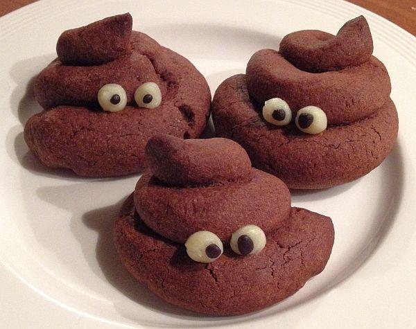 drie drolletjes koekje - fantastisch recept. Leuk als traktatie. Ze zijn bij mij wel iets ingezakt in de oven