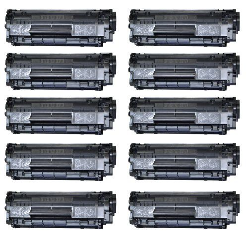 Canon 0263B001A, FX-9, Canon 104 Premium Compatible Laser Toner Cartridge RH-Q2612A/FX-9/C104 (Black, 10-Pack)