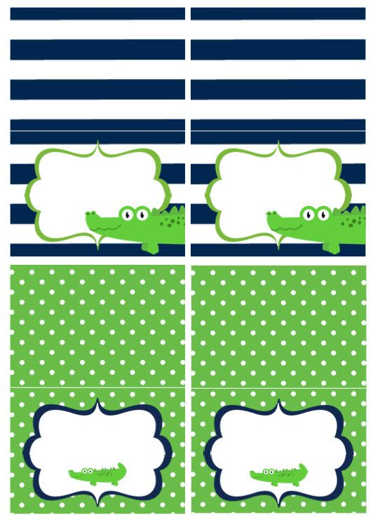Alligator Baby Shower Food Tents by AshleysPartyPretties on Etsy, $8.00