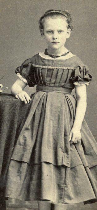 CDV Card Vintage Photo Cute Lil Girl Civil War Era Clothing Pomeroy Ohio | eBay
