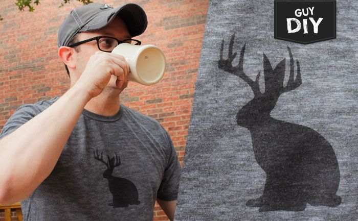 """Guy DIY was developed specifically with guys in mind. Each month, we feature new """"guy-inspired"""" DIY ideas that you can take and make your own. First up, an easy-to-make freezer paper stencil tee."""