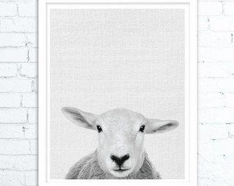 Impression de chèvre pépinière ferme Animal Wall Art par LILAxLOLA