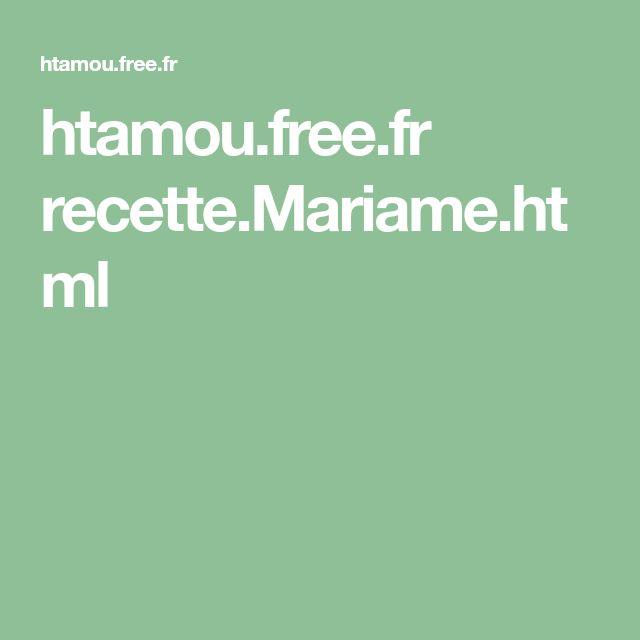htamou.free.fr recette.Mariame.html