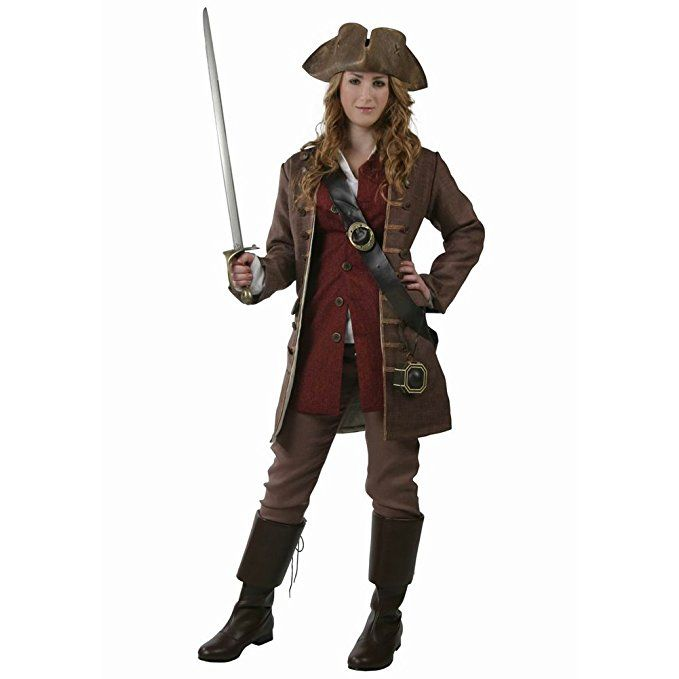 Women's Jack Sparrow Elizabeth Swann High-quality Cosplay Custom Made to Order Caribbean Pirate Costume  - DeluxeAdultCostumes.com
