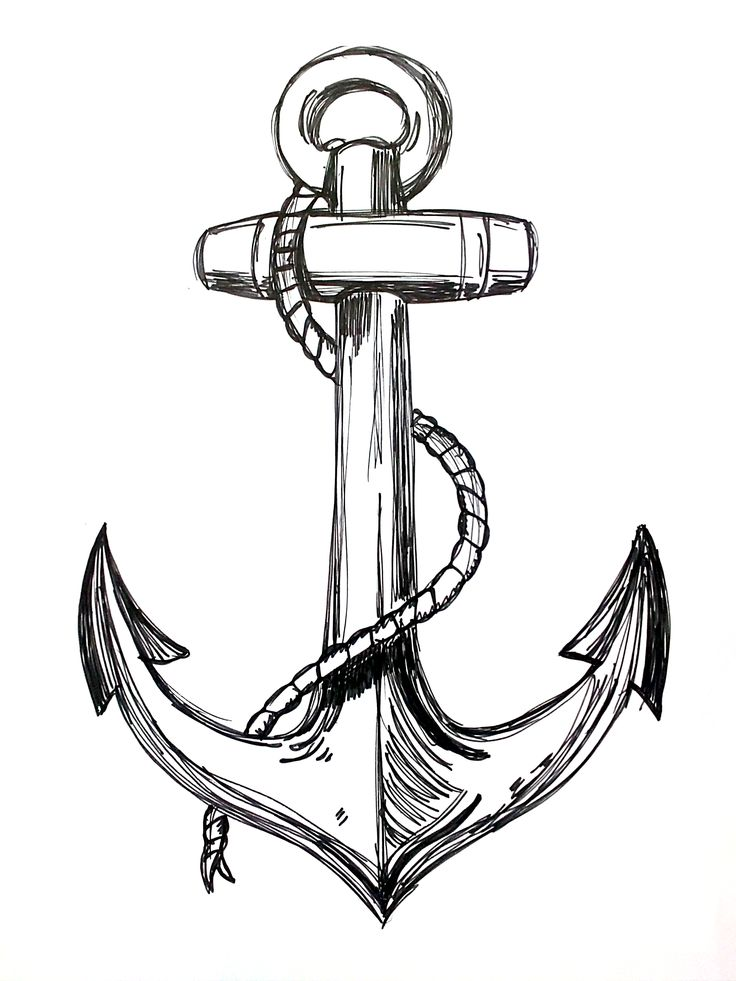 Line Drawing Anchor : Best vintage anchor tattoo scetches images on pinterest