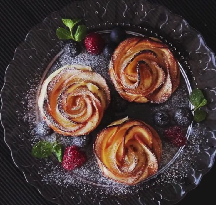 Cinnamon Apple Roses https://www.tastemade.com/videos/apple-cream-cheese-rose-tarts
