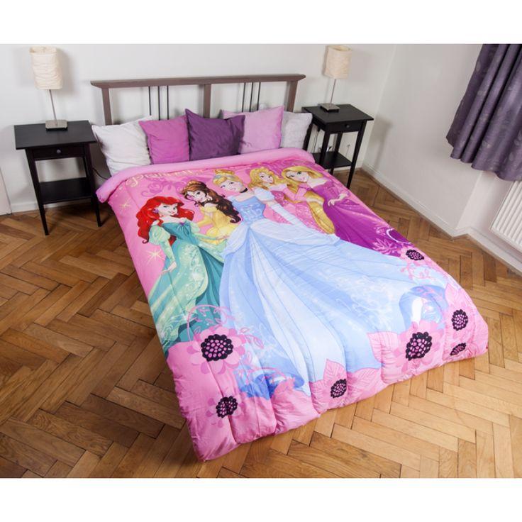 DISNEY HERCEGNŐS GYEREK ágytakaró 180x260 cm, Díszpárna.com Webáruház