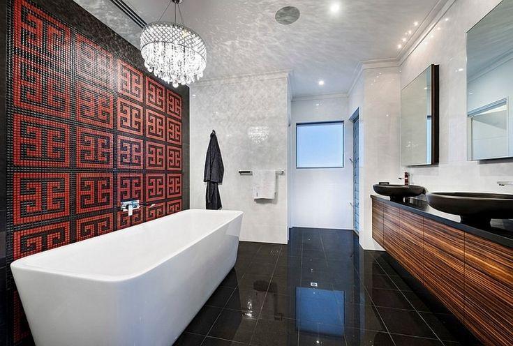 Badezimmer Deko Rot Modernes Badezimmer Deco Rot Moderne Deko