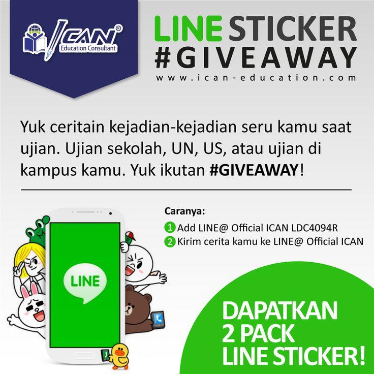 Mau dapet sticker-sticker lucu dari LINE ikutan LINE Sticker #Giveaway : http://www.ican-education.com/articles/view/line_sticker_giveaway