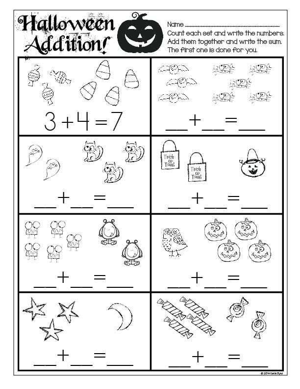 Print and Go! Halloween Math and Literacy ~ Sweet and spooky practice pages for kindergarten kids! Perfect for morning work, homework, or centers. Made to save you ink and time! Happy Halloween! $