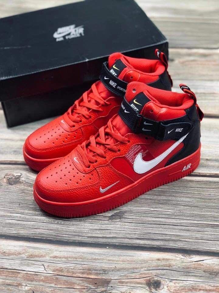 Nike Air Force 1 Mid LV8 (REDBLACK