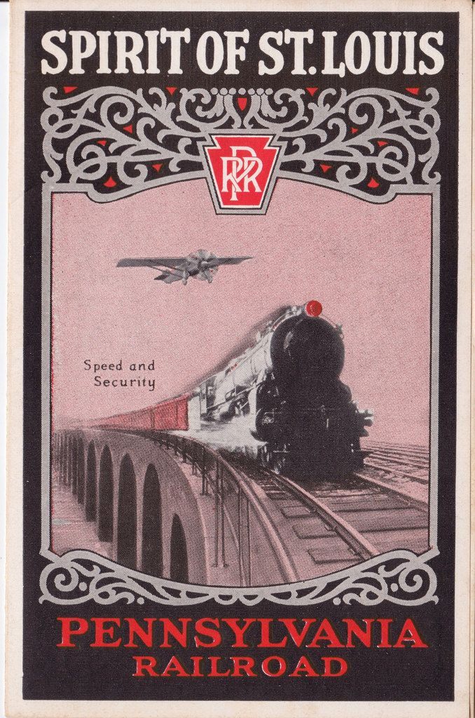 "Alle Größen | ""Spirit of St Louis"" - Pennsylvania Railroad leaflet, 1928 