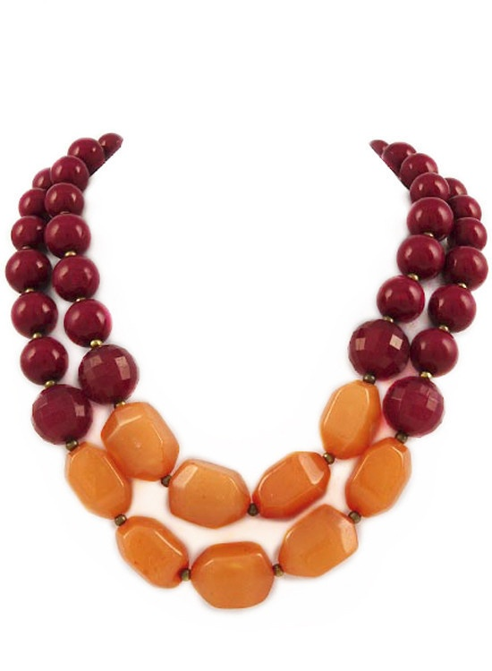 Maroon Tango Necklace: Jewelry Necklaces, Hoki Obsession, Color, Maroon Hoki, Jewelry Make Necklaces, Maroon Tango, Hoki Necklaces, Orange Accessories, Tango Necklaces