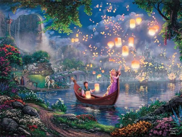 Ceaco Thomas Kinkade Tangled (750 piece)