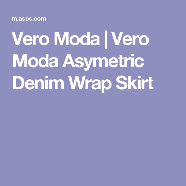 Vero Moda | Vero Moda Asymetric Denim Wrap Skirt