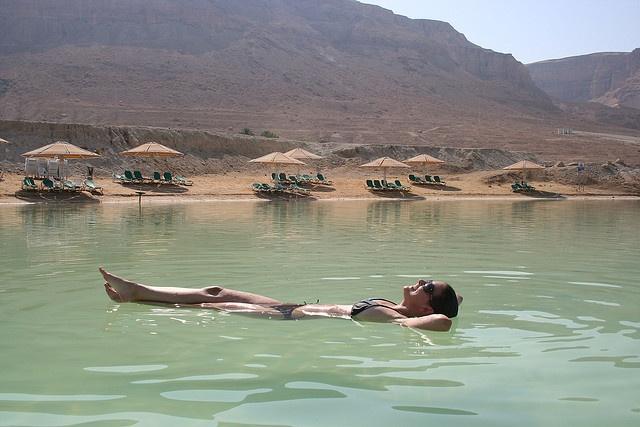 Float in the Dead Sea