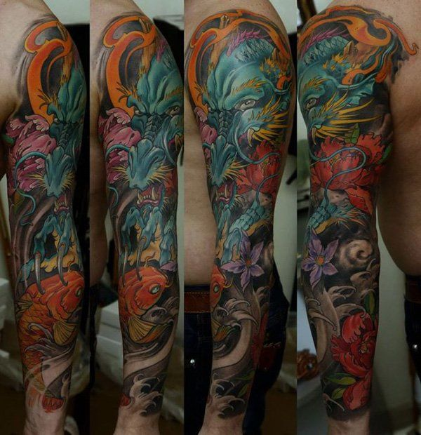 Full Sleeve Tattoo - 80+ Awesome Examples of Full Sleeve Tattoo Ideas <3 <3