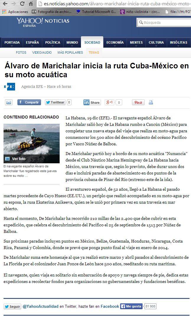 131220 - http://es.noticias.yahoo.com/álvaro-marichalar-inicia-ruta-cuba-méxico-moto-acuática-202027532.html