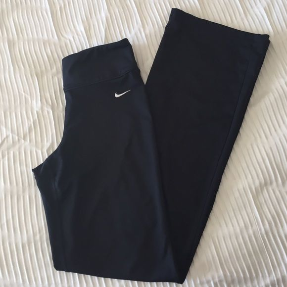 Nike Yoga Pants Wide Leg Nike Yoga Pants. Worn twice and in great condition. 30 inch inseam. Nike Pants Track Pants & Joggers