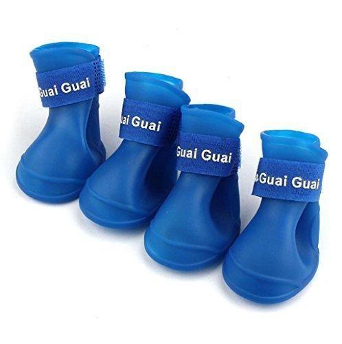 Oferta: 2.35€. Comprar Ofertas de Sannysis Botas para perros Impermeable Zapatos de lluvia para mascotas (azul, s) barato. ¡Mira las ofertas!