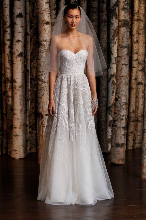 Naeem Khan strapless wedding dress