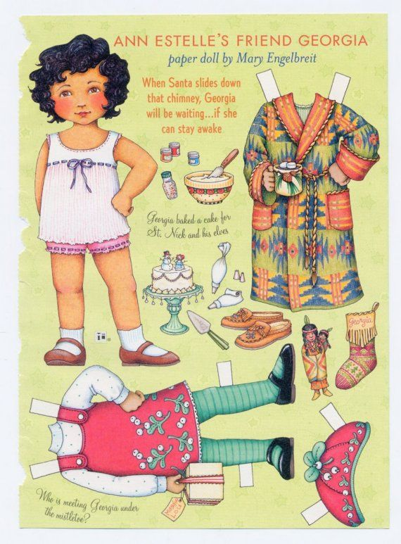 mary engelbreit paper dolls | Mary Engelbreit Paper Doll, Georgia On Christmas Eve, Scrapbook ...