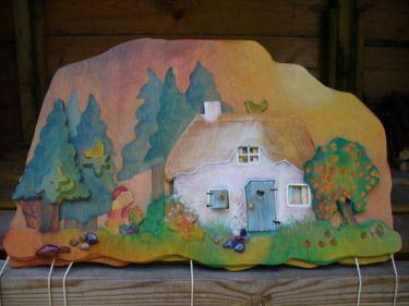Wooden Minitheatre. Little Red Ridinghood. Roodkapje en de wolf. www.berkeblad.nl