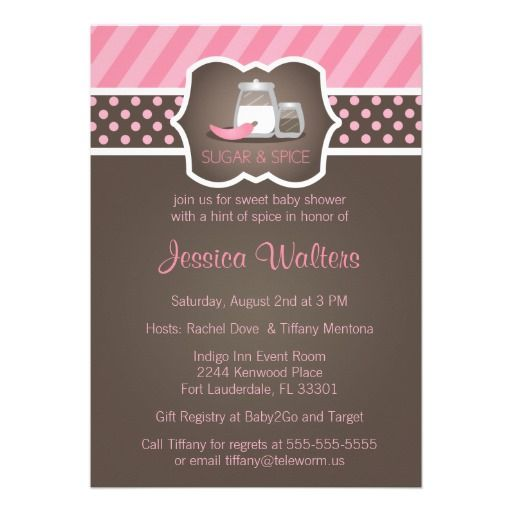 20 Best Pink And Brown Polka Dot Baby Shower Invitations Images On