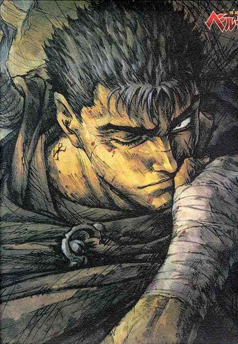 Guts - The pure embodiment of human will and determination. Guts whole life was stenched in blood, all he ever cared about was to fight and survive, yet when the time came for him to die - by the will of Gods - he fought back, because he found meaning in his life; to protect the people he loves, and he will never stop fighting for them and his freedom!!!