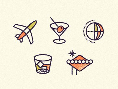 Travel icons by Luke Lisi