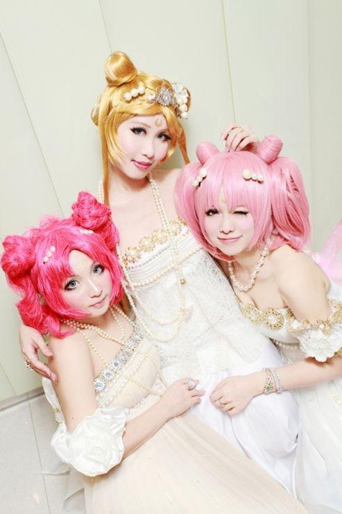 Sailor Moon, Sailor Mini Moon, and Sailor Chibi-Chibi Moon #Cosplay