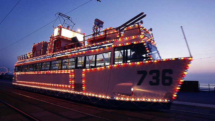 Another illuminated Blackpool tram