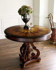 round foyer table in the entry switchng - Foyer Table