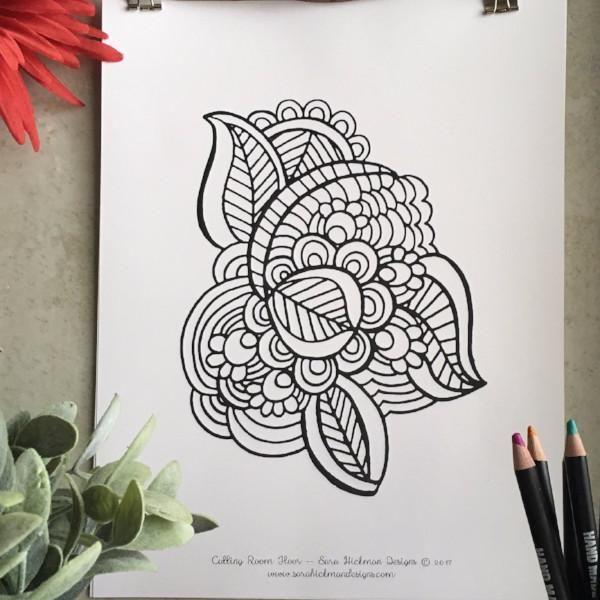 Henna Doodle design
