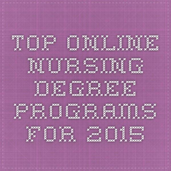 Top Online Nursing Degree Programs for 2015