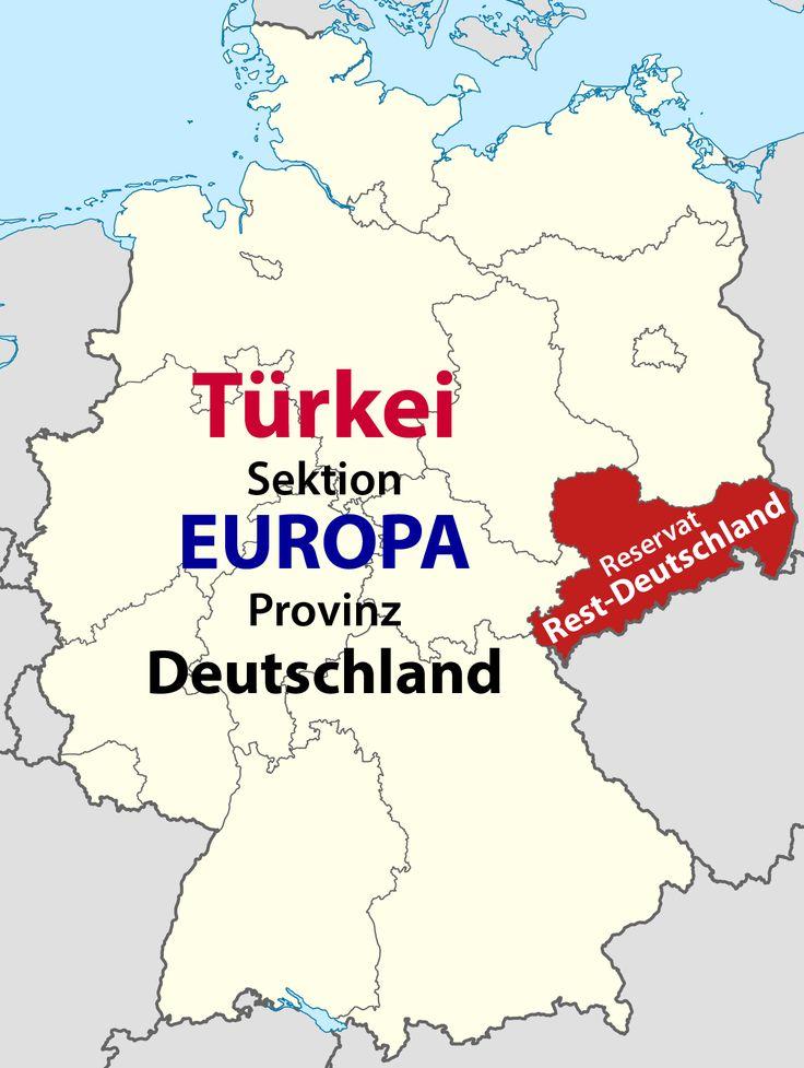 Europa Provinz Deutschland mit Reservat Sachsen Rest-Deutschland