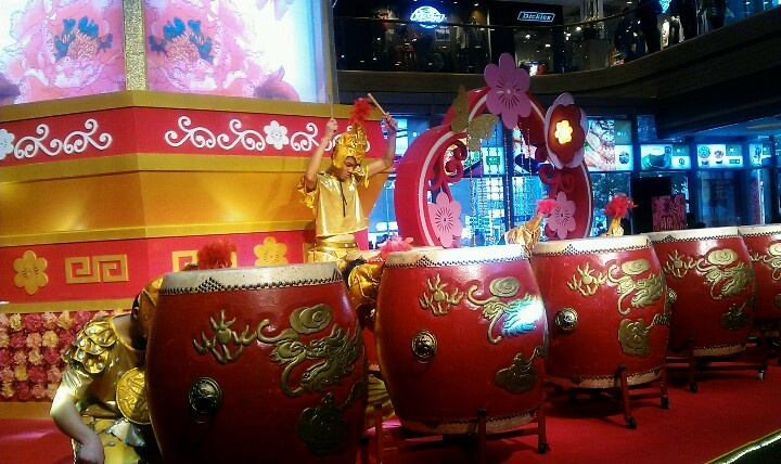 Chinese New year show in Shanghai