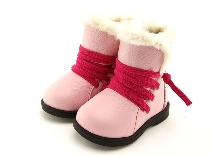 "Freycoo | Plush | Girls Boots Back for another winter season is our ""Plush"" girls boots in soft pink leather with hot pink elastic laces."