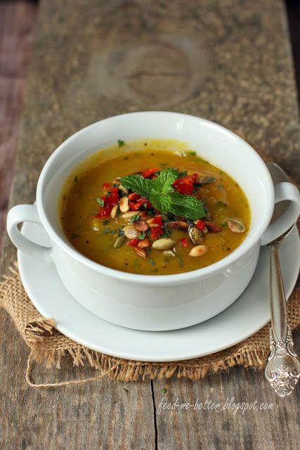 Feed Me Better: Zupa dyniowa z chili i miętą.