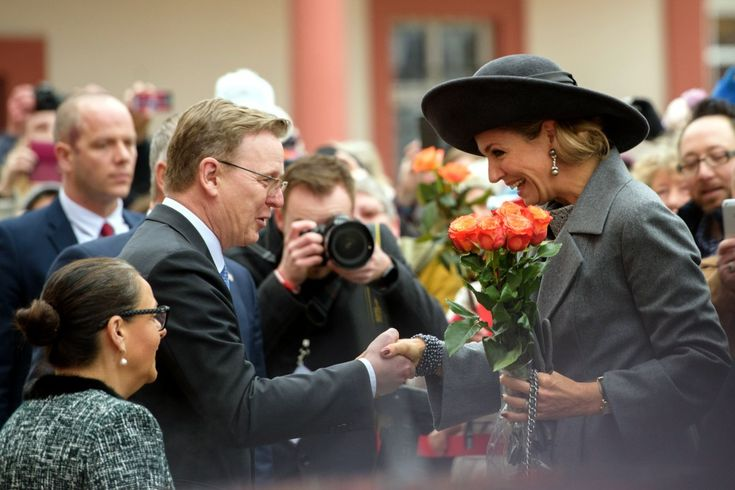 King Willem Alexander and Queen Maxima on the second day of their visit to Germany