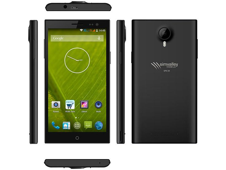 """simvalley MOBILE Dual-SIM-Smartphone SPX-34 OctaCore 5.0"""", Android 4.4"""
