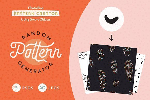 Random Pattern Generator With Images Graphic Design Pattern