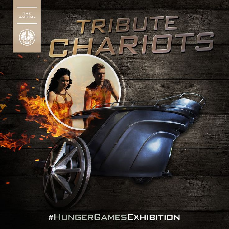 As a precursor to the Hunger Games, Tributes would have to represent their District by riding in specially-themed chariots.  See a chariot in person at The #HungerGamesExhibition! Get tickets: http://hungrgam.es/THGExhibition