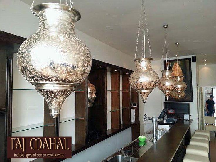 Voor Restaurant Taj Mahal in Utrecht maatwerk lampen van Nour Lifestyle