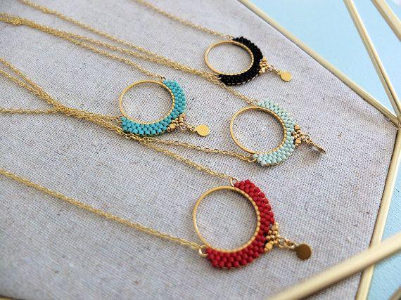 Collier Alya dentelle de perles Miyuki sur par MyFrenchTouchBijoux