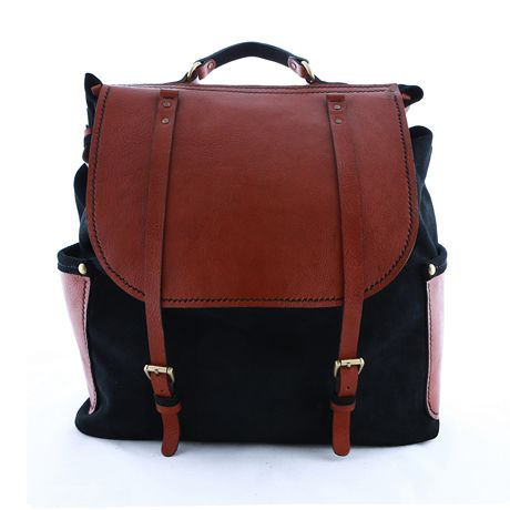 Leather Knapsack - want this for travel