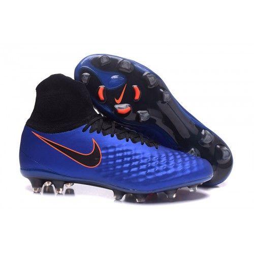 sports shoes ff93c e2190 ... denmark sokkesko billig nike magista obra ii fg fotballsko for herre blå  svart oransje nike 9808a