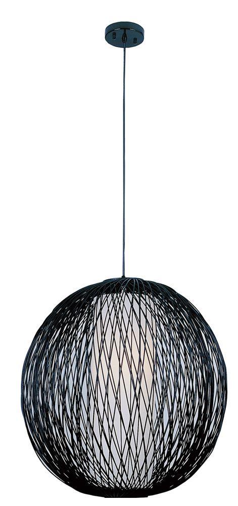 Rattan sphere pendant light
