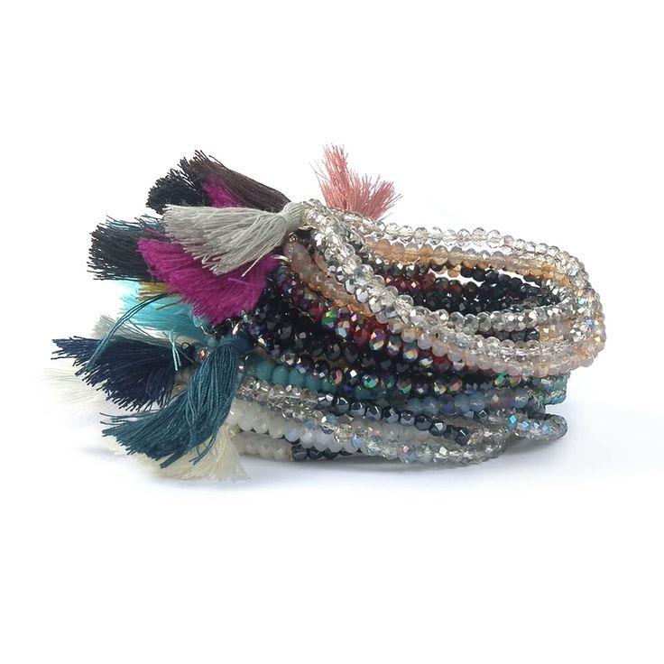 Bracelet perles – bleu – La Parisienne Bijoux